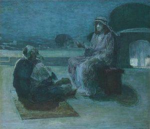 Henry Ossawa Tanner - Nicodemus coming to Christ.jpg, źródło: Wikimedia commons